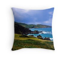 Devon coast on a sunny day Throw Pillow