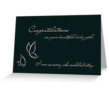 Congratulations On Your Beautiful Baby Girl Greeting Card