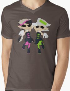 Callie & Marie (Pink) - Splatoon Mens V-Neck T-Shirt
