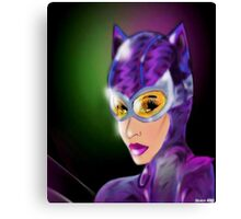 Purple Kitty Canvas Print