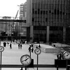 Canary Wharf clocks  by emferrari
