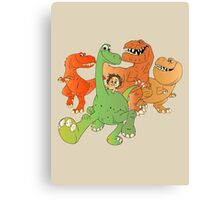 A Crew of Good Dinos Canvas Print