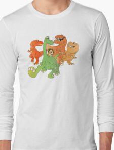 A Crew of Good Dinos Long Sleeve T-Shirt