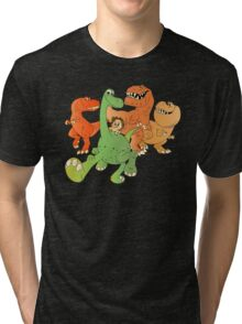 A Crew of Good Dinos Tri-blend T-Shirt