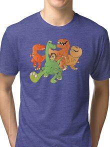 A Crew of Good Dinos Tri-blend T-Shirt