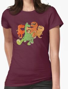 A Crew of Good Dinos Womens Fitted T-Shirt