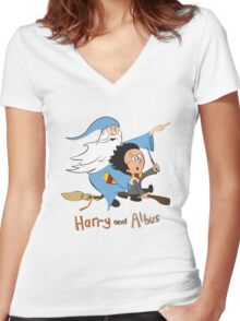 Harry and Albus Women's Fitted V-Neck T-Shirt