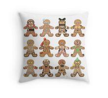 Gingerbread RWBY - All Teams Throw Pillow