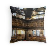 Kilbirnie Auld Kirk interior 2 Throw Pillow