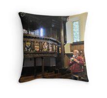 Kilbirnie Auld Kirk interior 4 Throw Pillow