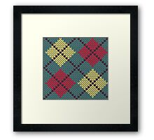 Retro Knit Argyle Framed Print