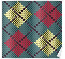 Retro Knit Argyle Poster
