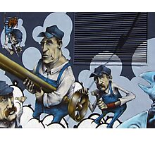 Workers Graffiti Photographic Print