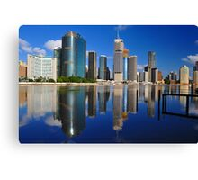 Brisbane River and City at sunrise. Queensland, Australia. Canvas Print