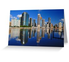 Brisbane River and City at sunrise. Queensland, Australia. Greeting Card