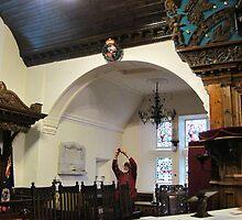 Kilbirnie Auld Kirk interior 11 by Ray Vaughan