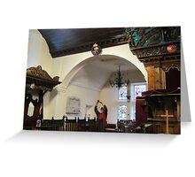 Kilbirnie Auld Kirk interior 11 Greeting Card