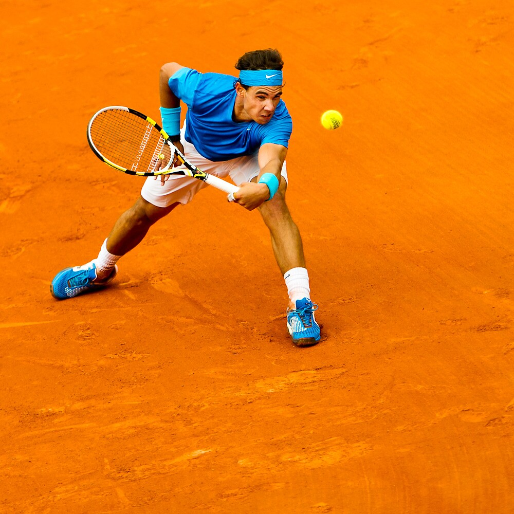 Fighting vs. the ball  /  Rafael Nadal @ Roland Garros by johanlb