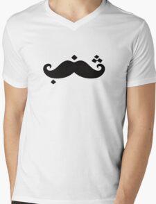 Shanab \ Arabic Mustache Mens V-Neck T-Shirt