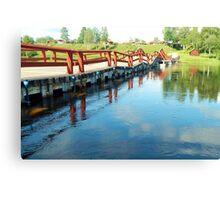 Floating Bridge Canvas Print