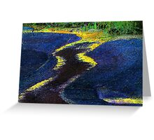 Low Water Landscape Greeting Card