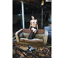 Model in abandonment Photographic Print