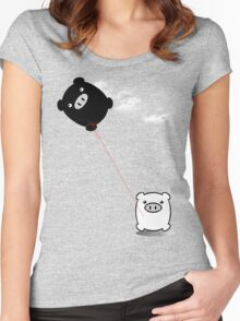 TWINPIGS KITE  Women's Fitted Scoop T-Shirt