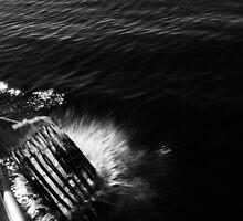 Cray pot hits the sea by Hayley Joyce