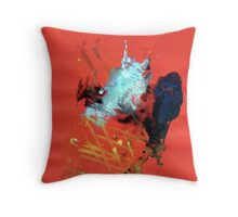 Abstract Painting Nº 03 - Red  Throw Pillow