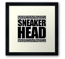 Sneakerhead -Black Out Cement Framed Print