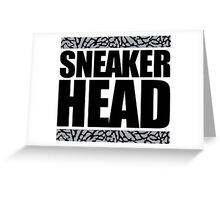 Sneakerhead -Black Out Cement Greeting Card