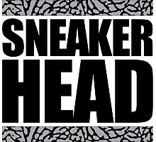 Sneakerhead -Black Out Cement Photographic Print