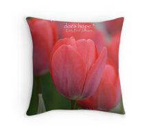 Where flowers bloom Throw Pillow