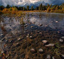 Teton Mountains and River by KellyHeaton