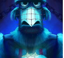 Muppet Maniac - Sam the Eagle as Pinhead by GrimbyBECK