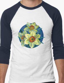 Daffodils T Men's Baseball ¾ T-Shirt