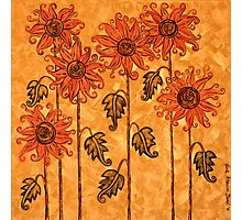 'Fire Blooms' - happiness in paint! Photographic Print