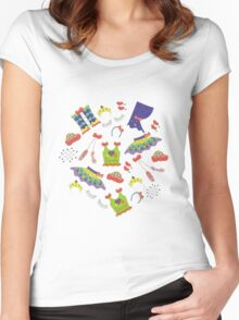 Dance is in the air (white version) Women's Fitted Scoop T-Shirt
