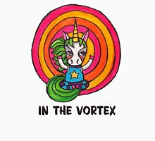 In the Vortex: Cute Unicorn Drawing Watercolor Illustration Womens Fitted T-Shirt