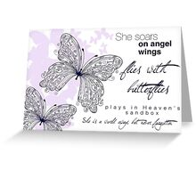 She Soars On Angel Wings Greeting Card