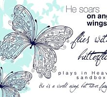 He Soars On Angel Wings by Franchesca Cox