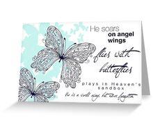 He Soars On Angel Wings Greeting Card