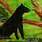 Black Panther  (opps  was going to be leopard)  for the Africa series, watercolor by Anna  Lewis