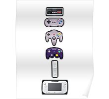 Evolution of Nintendo controllers Poster