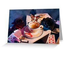 Midnight Tea Party Greeting Card