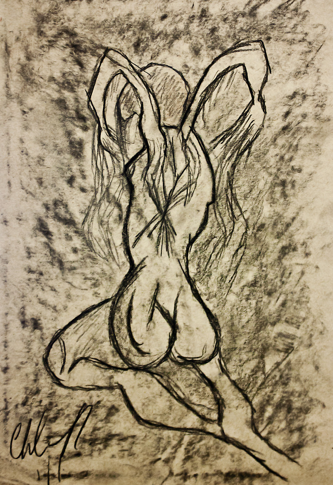 Trapped in Torment...Drawing Day 2011 by Christina Rodriguez
