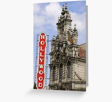 Hollywood theater Greeting Card