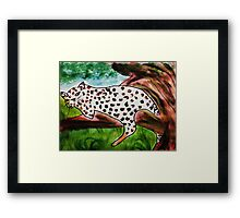 The Leopard, for Africa Series, watercolor Framed Print