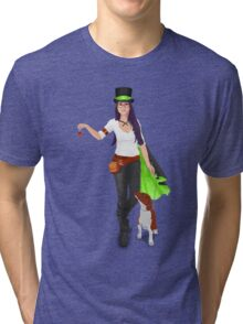 Steampunk Angel Tri-blend T-Shirt