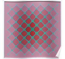 Untitled - pink and green honeycomb Poster